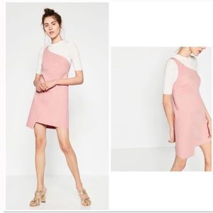 Zara One shoulder mini dress